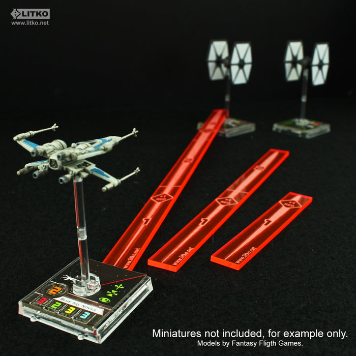 Space Fighter Multi-Range Fire Gauge Set, Fluorescent Pink (3) - LITKO Game Accessories