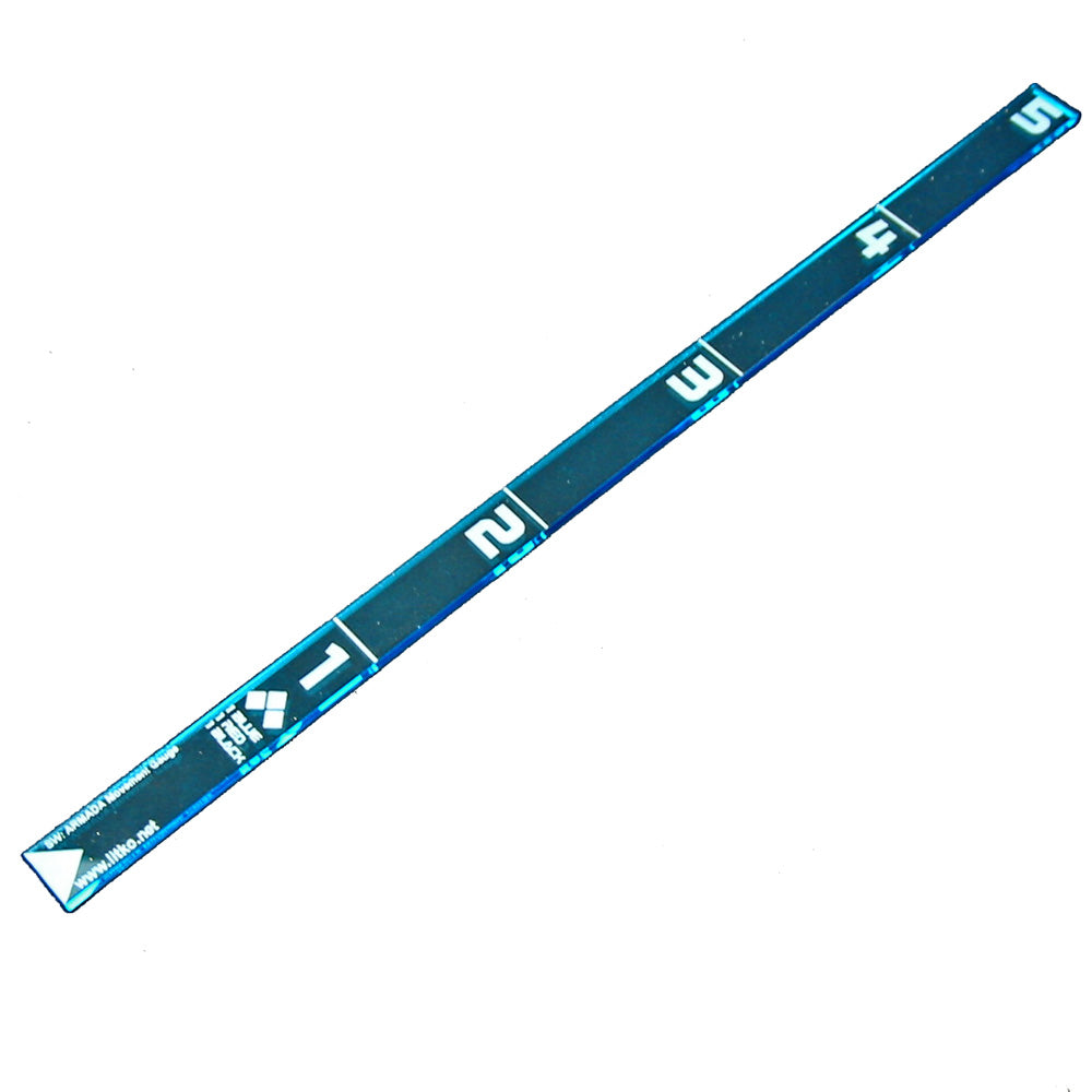 SW: Armada Movement Ruler, Fluorescent Blue - LITKO Game Accessories