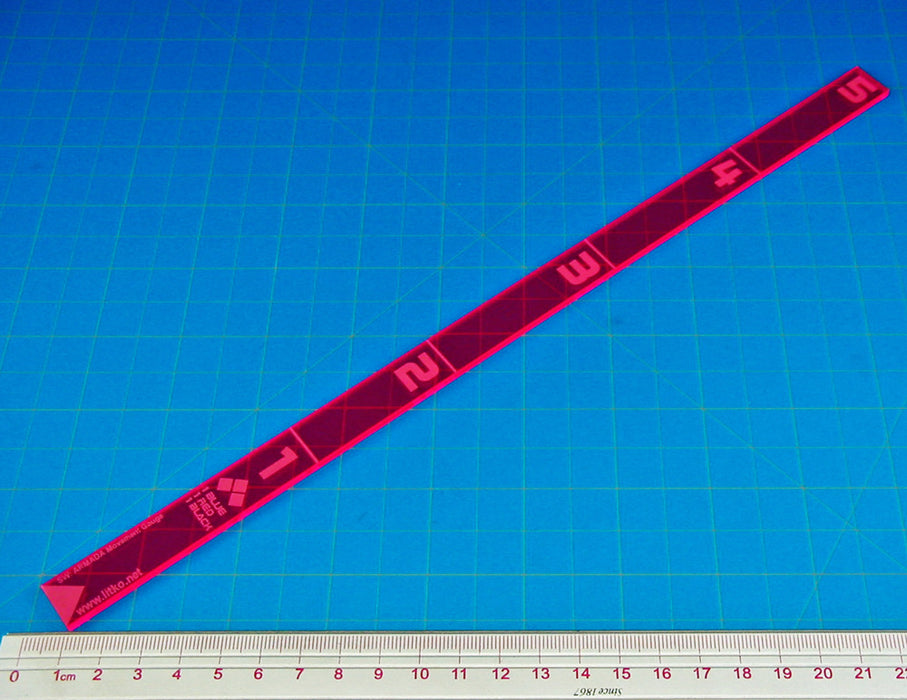 SW: Armada Movement Ruler, Fluorescent Pink - LITKO Game Accessories
