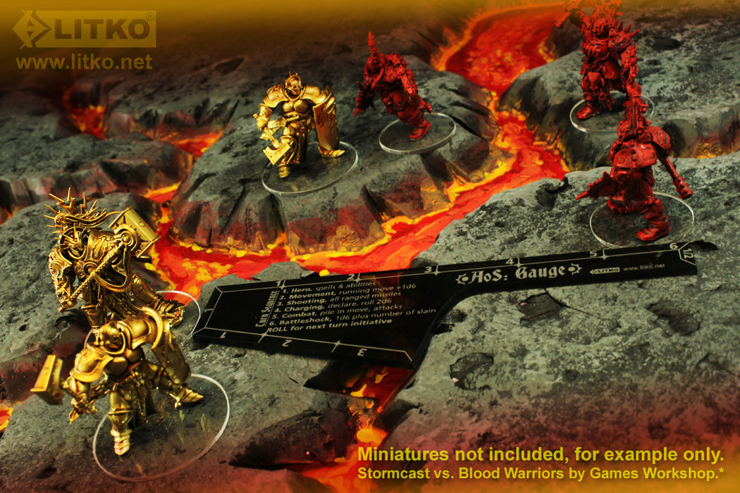 LITKO Movement Gauge Compatible with AoS: 1st & 2nd Edition, Translucent Grey - LITKO Game Accessories