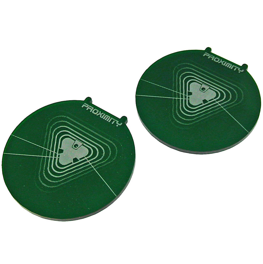 Space Fighter Proximity Mine Templates, Translucent Green (2) - LITKO Game Accessories