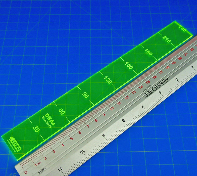 LITKO 30mm Ruler Compatible with DBA+, Fluorescent Green - LITKO Game Accessories