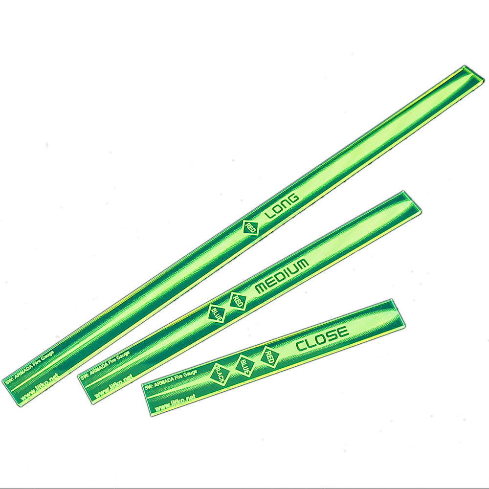SW: Armada Multi Range Gauge Set, Fluorescent Green (3) - LITKO Game Accessories