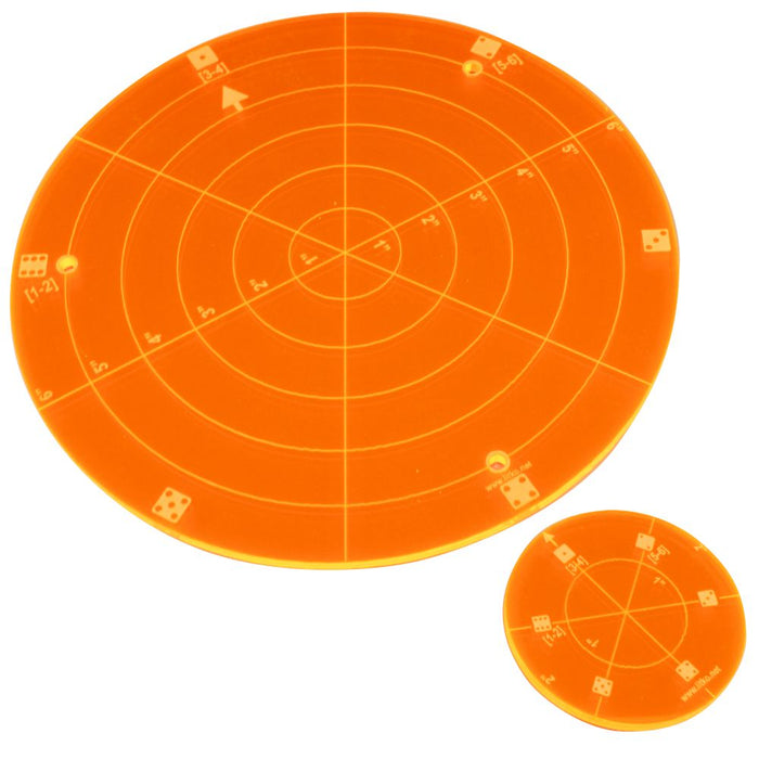 BTECH Area of Effect Template Set, Fluorescent Orange (2) - LITKO Game Accessories