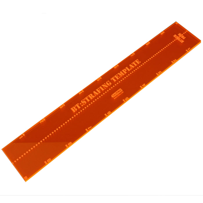 BTECH Strafe Template, Fluorescent Orange - LITKO Game Accessories