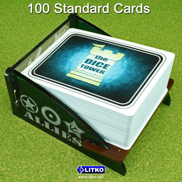 WWII Deck Tray Kit (Medium, Holds 60-100 Standard US/Euro Sized Cards) - LITKO Game Accessories