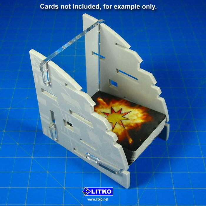 Battle Station Mini Deck Tray (Medium, Holds 75-100 Mini Sized Cards) - LITKO Game Accessories