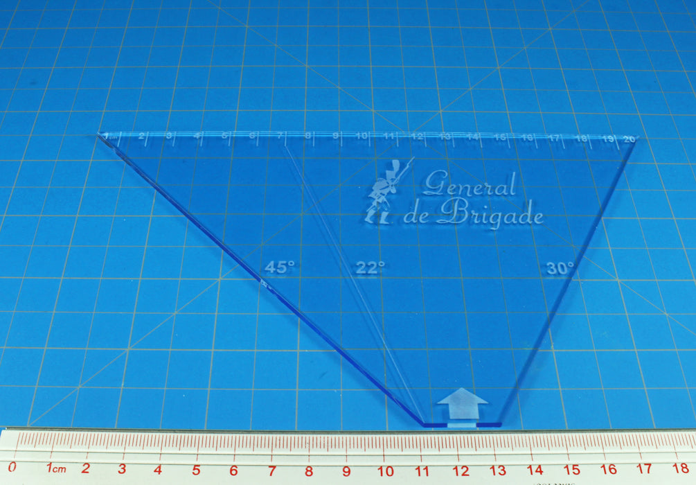 Napoleonic De Brigade Template, Transparent Light Blue - LITKO Game Accessories
