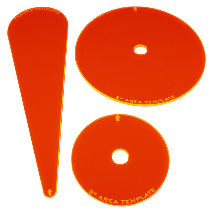 Armageddon Template Set, Fluorescent Orange  (3) - LITKO Game Accessories