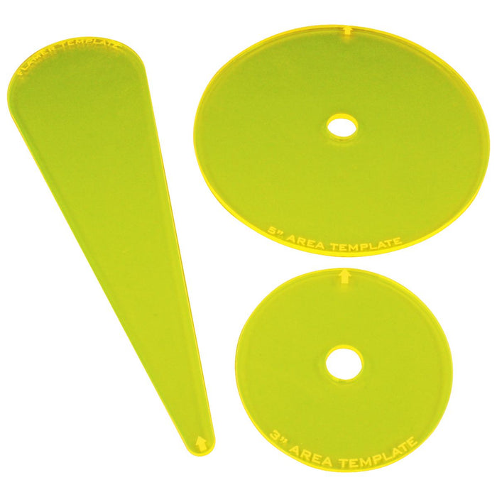 Armageddon Template Set, Fluorescent Yellow (3) - LITKO Game Accessories