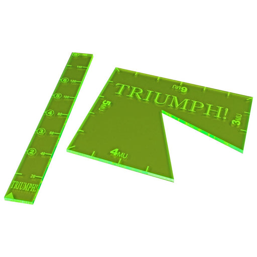 LITKO Ruler and Notch Gauge Set compatible with TRIUMPH!, Fluorescent Green (2) - LITKO Game Accessories
