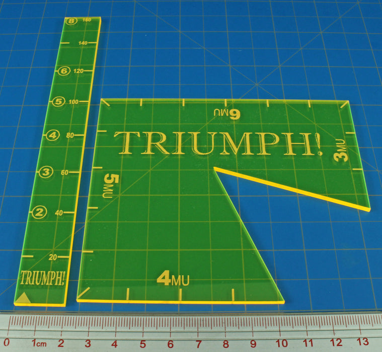TRIUMPH! Template Set, Fluorescent Yellow (2) - LITKO Game Accessories