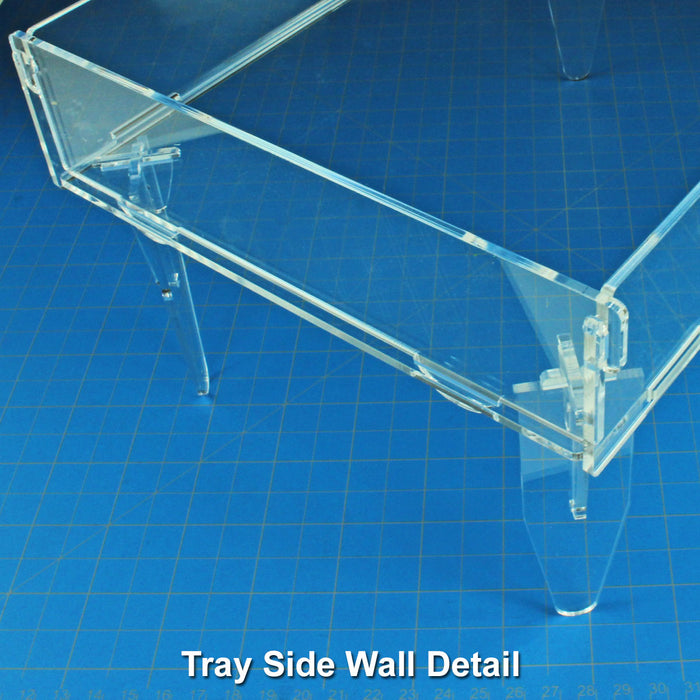 Elevated Dice Tray, Clear - LITKO Game Accessories