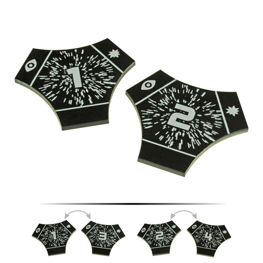 LITKO Space Fighter 2nd Edition Double-Sided Hyperspace Templates, Black (2) - LITKO Game Accessories