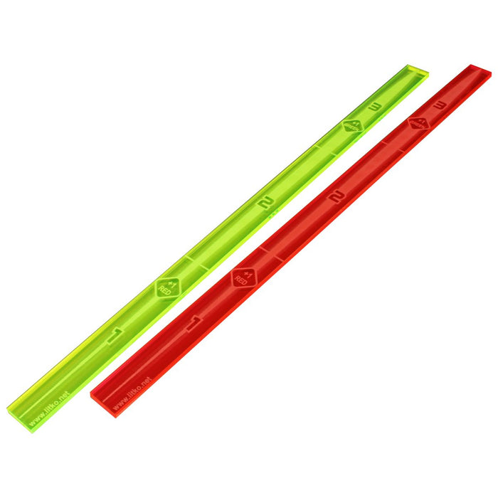 LITKO Space Fighter 2nd Edition Range Ruler Set, Fluorescent Green & Fluorescent Pink (2) - LITKO Game Accessories