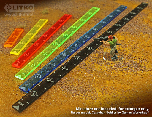 LITKO Range Ruler Set, Compatible with Wasteland Warfare, Multi-color (6) - LITKO Game Accessories