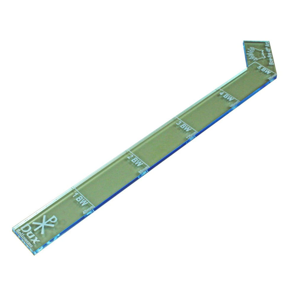 LITKO 40mm Ruler with Fire Arc Compatible with Dux Bellorum, Transparent Light Blue - LITKO Game Accessories