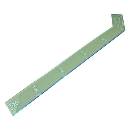 LITKO 60mm Ruler with Fire Arc Compatible with Dux Bellorum, Transparent Light Blue - LITKO Game Accessories