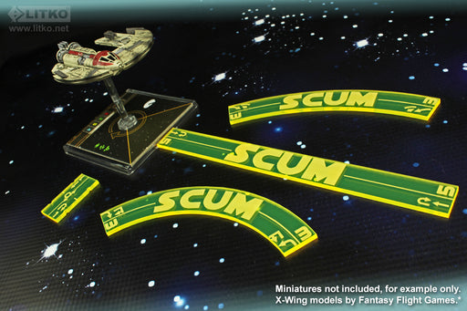 LITKO Space Fighter 2nd Edition Scum Maneuver Gauge Set, Fluorescent Yellow (11) - LITKO Game Accessories