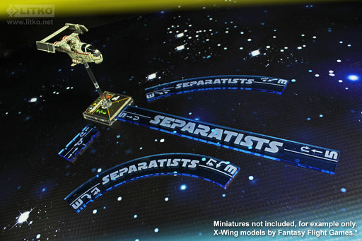 LITKO Space Fighter 2nd Edition Separatists Maneuver Gauge Set, Fluorescent Blue (11) - LITKO Game Accessories