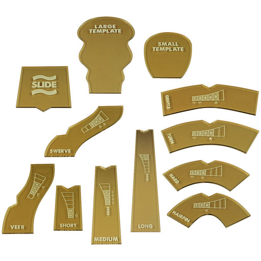 28mm Scale Template Set Compatible with GASLANDS, Translucent Bronze (12) - LITKO Game Accessories