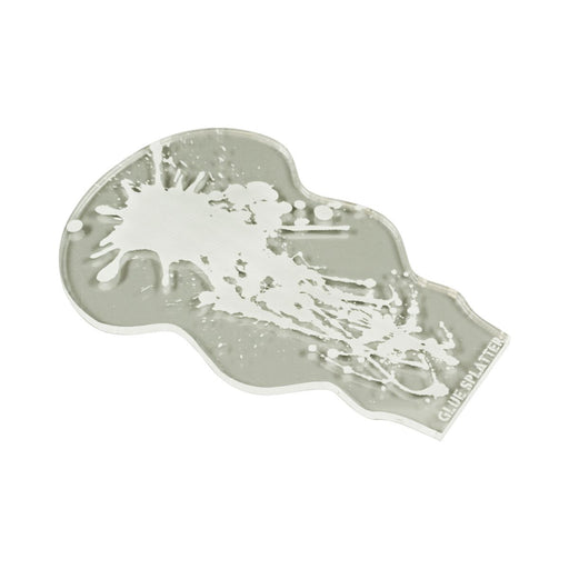 LITKO Glue Splatter Template Compatible with Gaslands Miniatures Game, Clear - LITKO Game Accessories