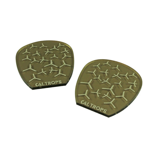 LITKO Caltrops Templates Compatible with Gaslands Miniatures Game, Transparent Bronze  (2) - LITKO Game Accessories