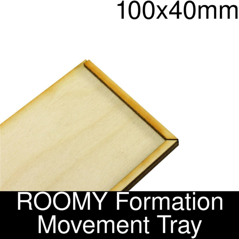 Formation Movement Tray: 100x40mm ROOMY Tray Kit - LITKO Game Accessories