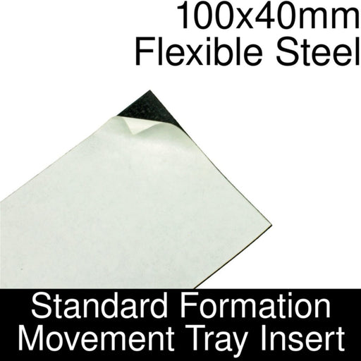 Formation Movement Tray: 100x40mm Flexible Steel Insert for Standard Tray - LITKO Game Accessories