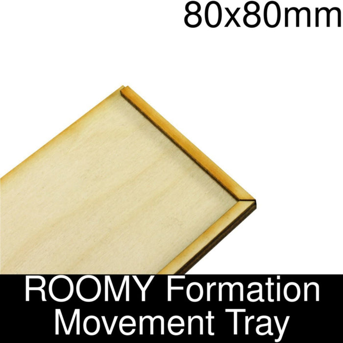 Formation Movement Tray: 80x80mm ROOMY Tray Kit - LITKO Game Accessories