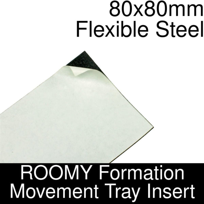 Formation Movement Tray: 80x80mm Flexible Steel Insert for ROOMY Tray - LITKO Game Accessories