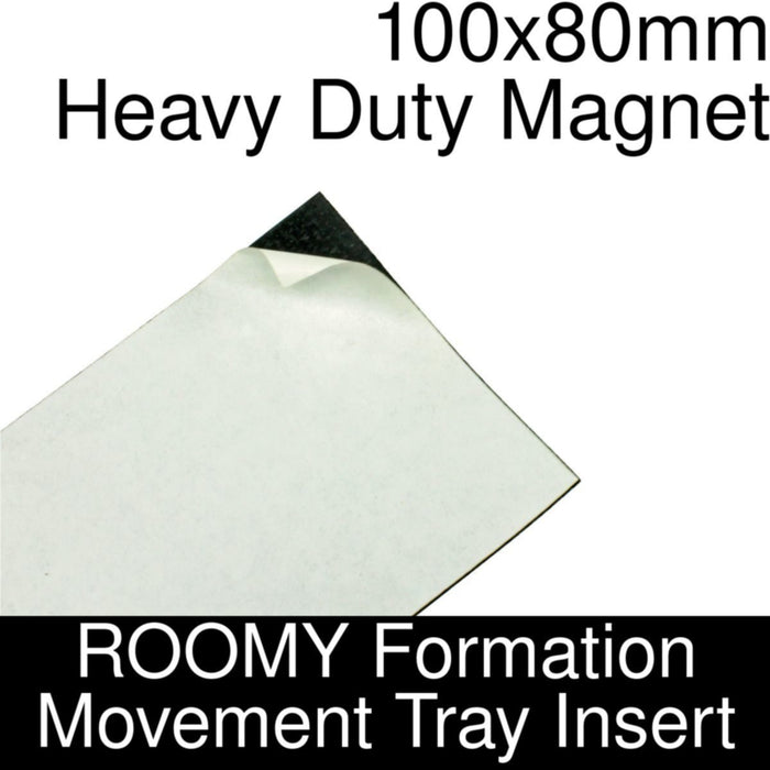 Formation Movement Tray: 100x80mm Heavy Duty Magnet Insert for ROOMY Tray - LITKO Game Accessories