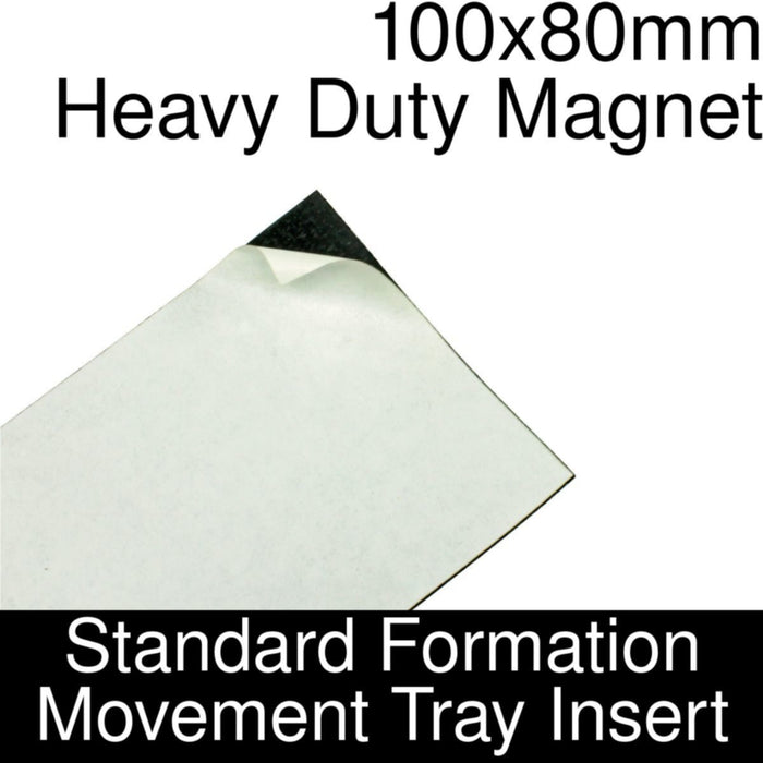 Formation Movement Tray: 100x80mm Heavy Duty Magnet Insert for Standard Tray - LITKO Game Accessories
