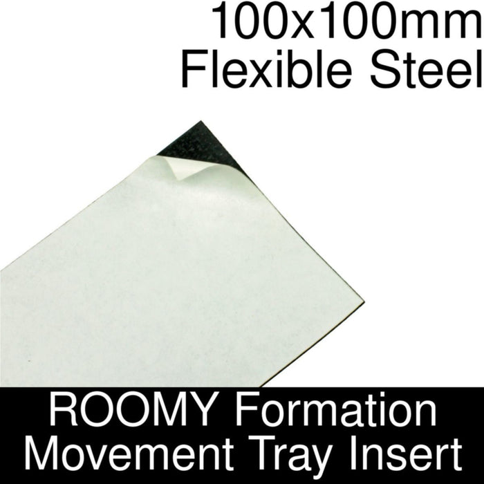 Formation Movement Tray: 100x100mm Flexible Steel Insert for ROOMY Tray - LITKO Game Accessories