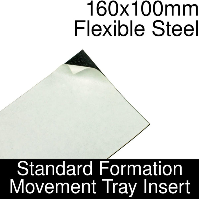 Formation Movement Tray: 160x100mm Flexible Steel Insert for Standard Tray - LITKO Game Accessories