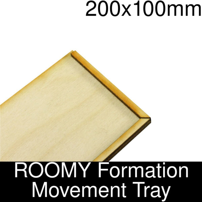 Formation Movement Tray: 200x100mm ROOMY Tray Kit - LITKO Game Accessories