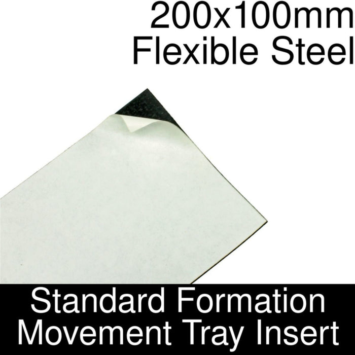 Formation Movement Tray: 200x100mm Flexible Steel Insert for Standard Tray - LITKO Game Accessories