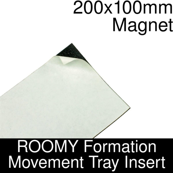 Formation Movement Tray: 200x100mm Magnet Insert for ROOMY Tray - LITKO Game Accessories