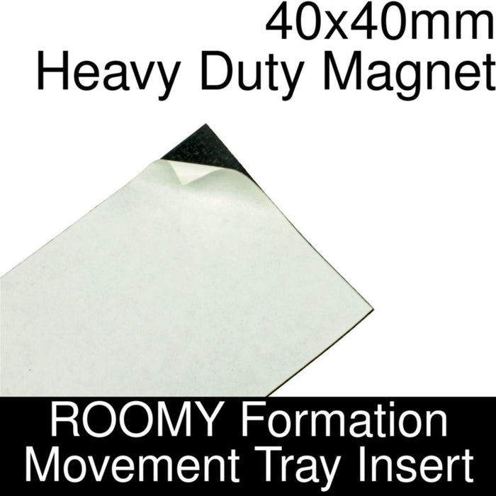 Formation Movement Tray: 40x40mm Heavy Duty Magnet Insert for ROOMY Tray - LITKO Game Accessories
