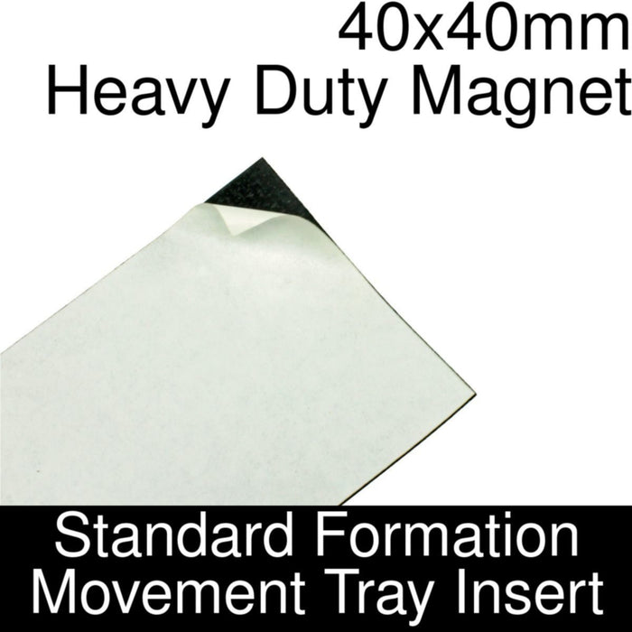 Formation Movement Tray: 40x40mm Heavy Duty Magnet Insert for Standard Tray - LITKO Game Accessories