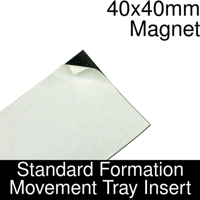 Formation Movement Tray: 40x40mm Magnet Insert for Standard Tray - LITKO Game Accessories