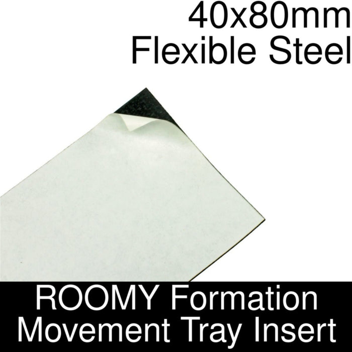 Formation Movement Tray: 40x80mm Flexible Steel Insert for ROOMY Tray - LITKO Game Accessories