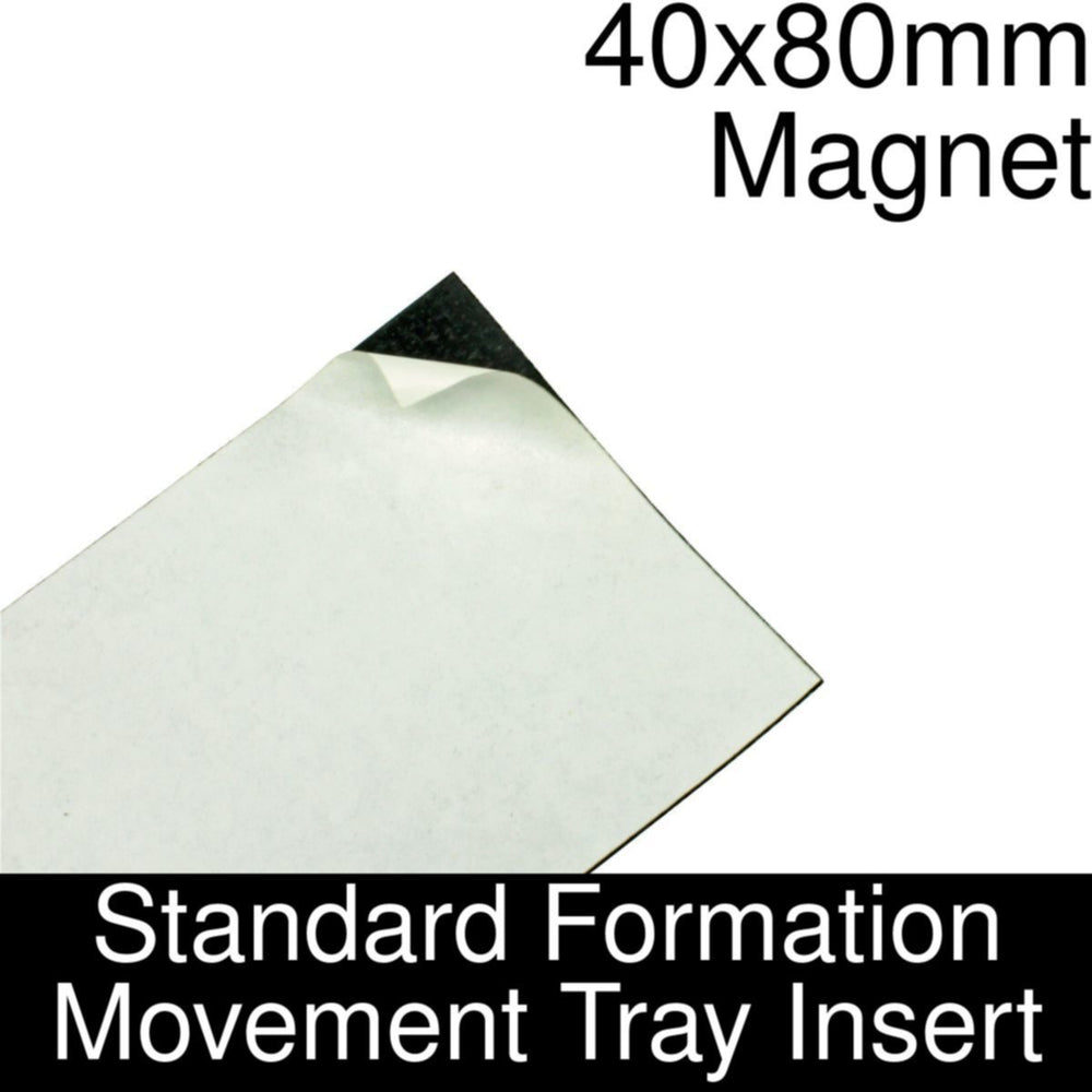 Formation Movement Tray: 40x80mm Magnet Insert for Standard Tray - LITKO Game Accessories