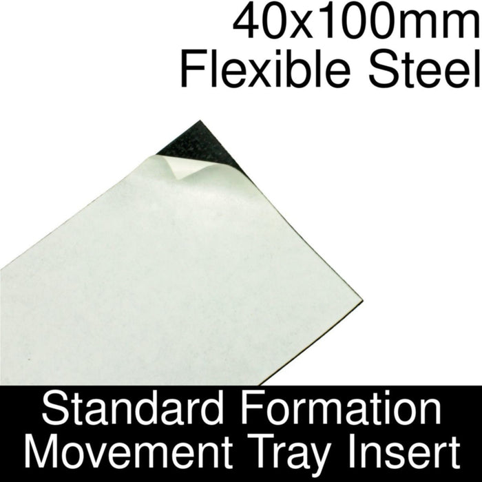 Formation Movement Tray: 40x100mm Flexible Steel Insert for Standard Tray - LITKO Game Accessories