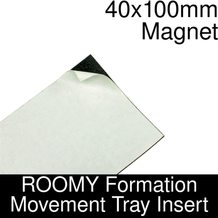 Formation Movement Tray: 40x100mm Magnet Insert for ROOMY Tray - LITKO Game Accessories