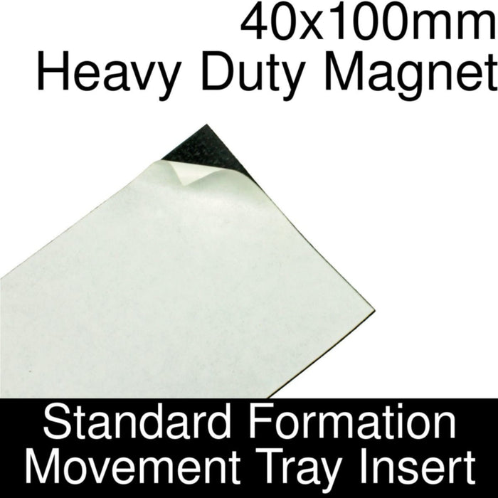 Formation Movement Tray: 40x100mm Heavy Duty Magnet Insert for Standard Tray - LITKO Game Accessories
