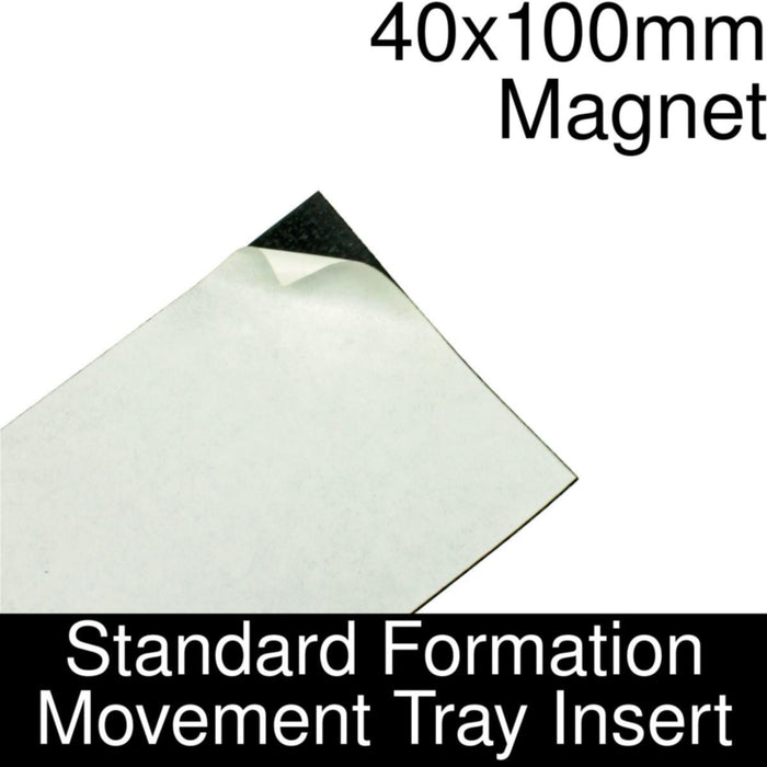 Formation Movement Tray: 40x100mm Magnet Insert for Standard Tray - LITKO Game Accessories