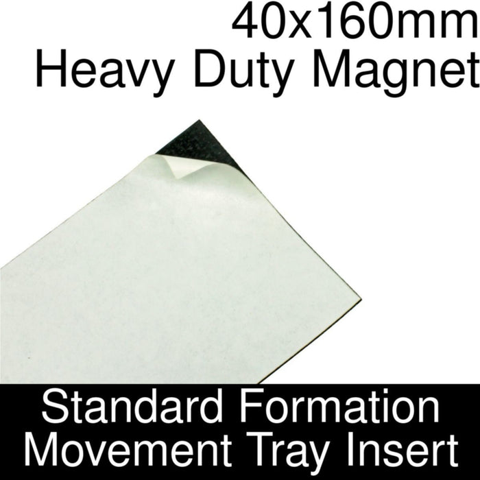 Formation Movement Tray: 40x160mm Heavy Duty Magnet Insert for Standard Tray - LITKO Game Accessories