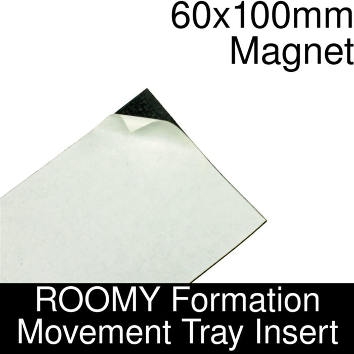 Formation Movement Tray: 60x100mm Magnet Insert for ROOMY Tray - LITKO Game Accessories