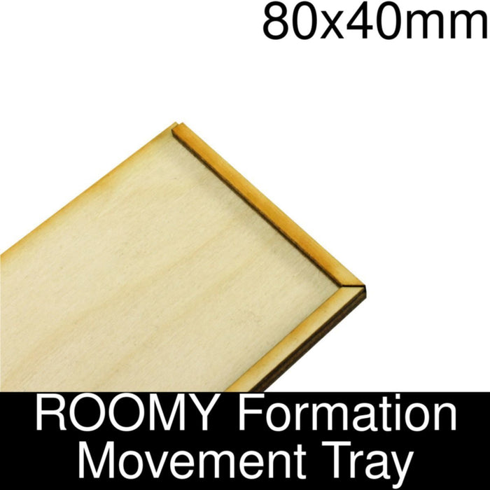 Formation Movement Tray: 80x40mm ROOMY Tray Kit - LITKO Game Accessories